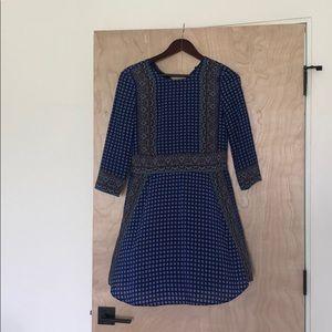 Madewell Silk Bandana Pattern Dress